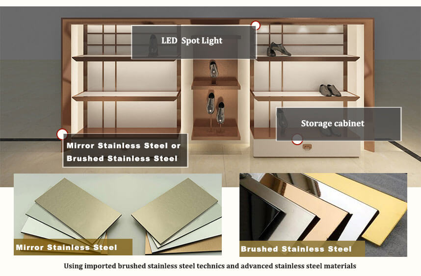 store display shelves details
