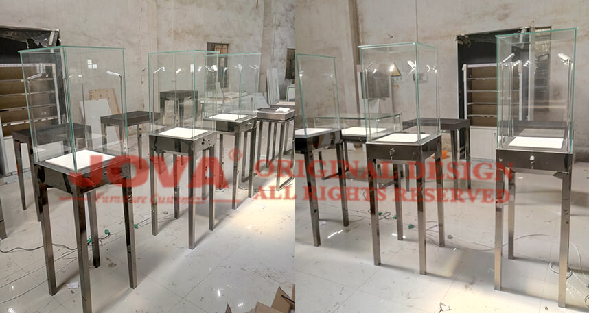 jewellery pedestal case supplier