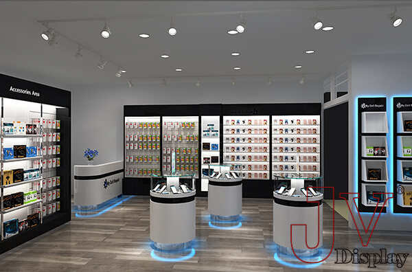 Cell Phone Shop Design With Accessories Display For Salecell Phone