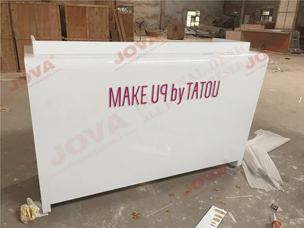 cosmetic shop counter reception desk