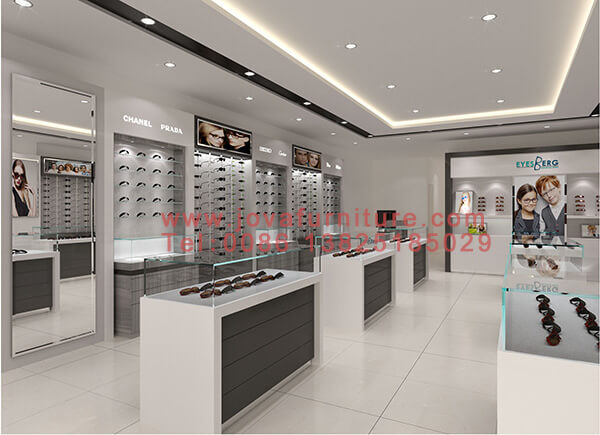 Latest Optical Showroom Design With Display Furniture For