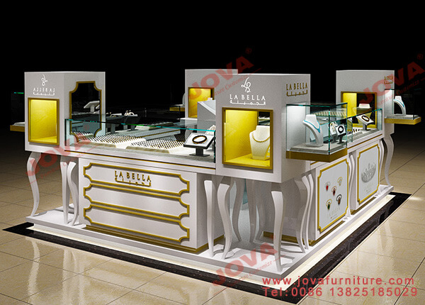 jewelry kiosk with displays