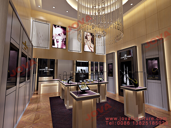 luxury jewelry store displays