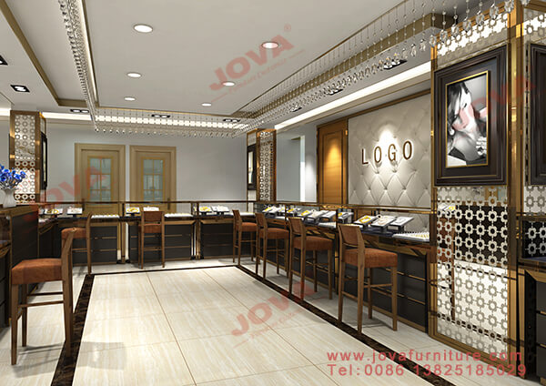 best indian gold jewellery shop interior design