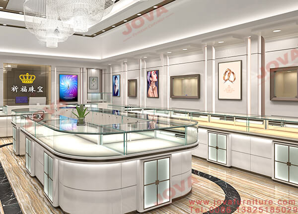 custom jewelry store showcases