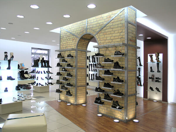 footwear display for shops