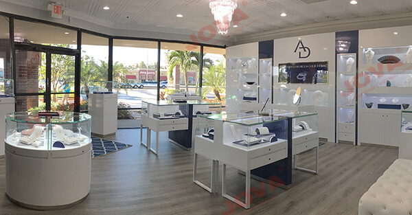 Modern jewelry store displays