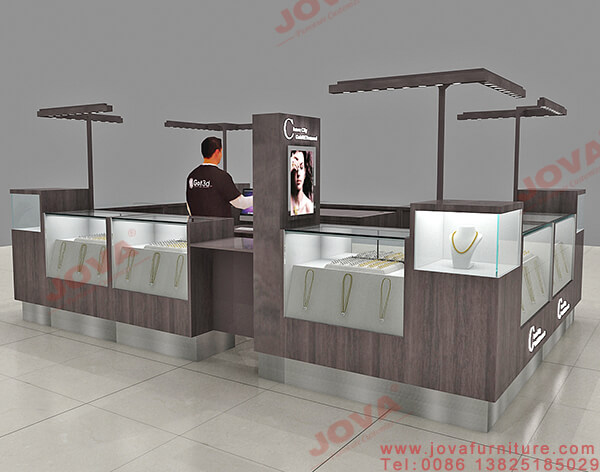 jewelry display cases counter