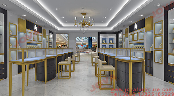jewellery showroom counter