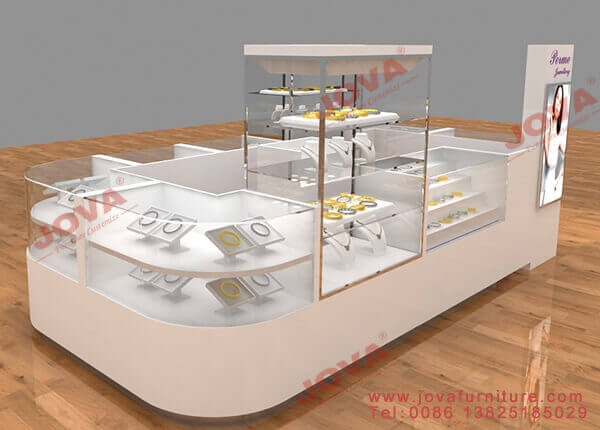 Multilayer jewelry counter cabinets