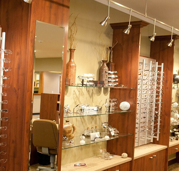 glasses frame wall displays