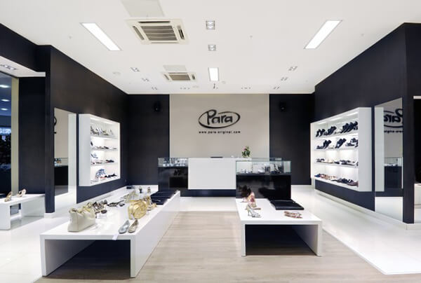 retail shoes store design