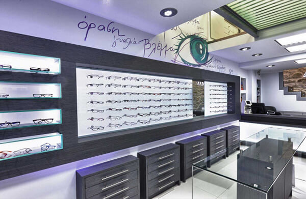 eyewear shop display