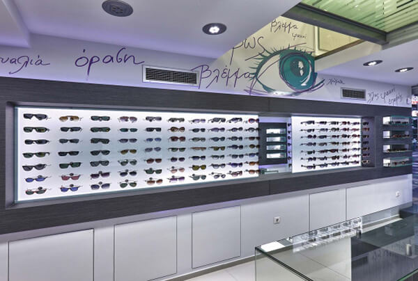 eyewear wall display