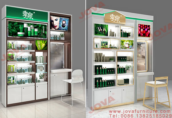 cosmetic wall display design