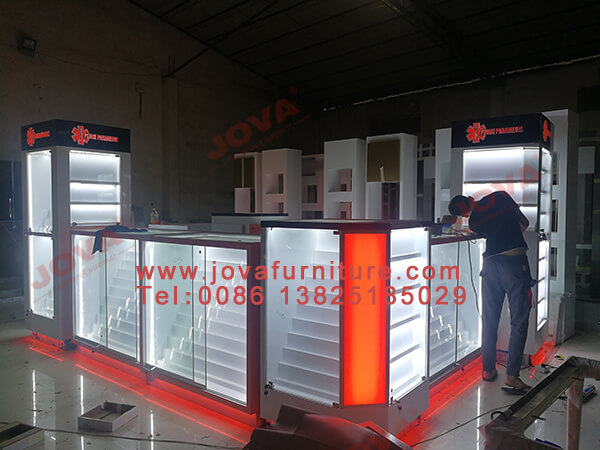 mobile accessories display counter suppliers