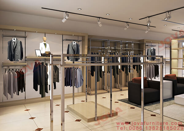 clothing store wall displays