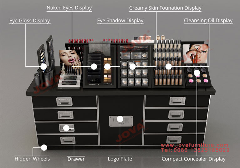 retail cosmetics stands for stores