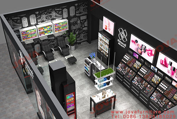 cosmetics store interior layout