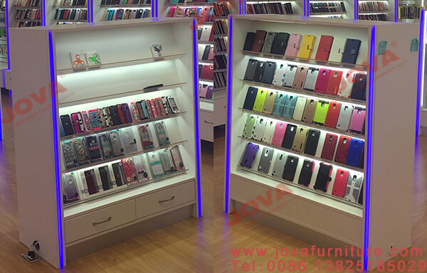 cell phone accessories counter display rack