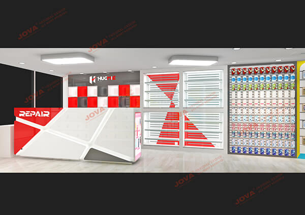 mobile phone shop furniture design