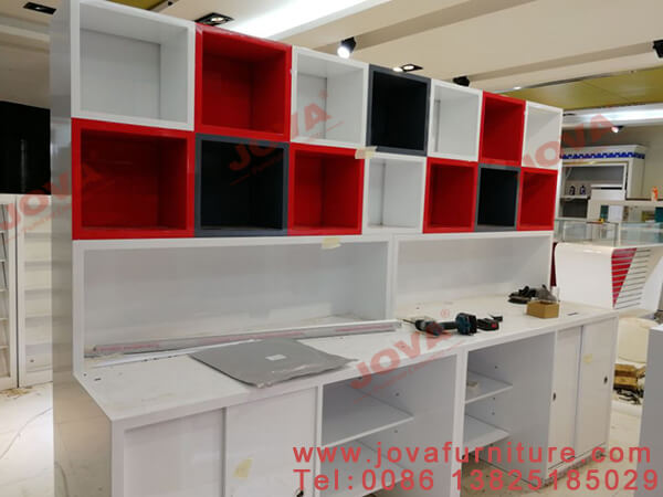 phone shop display cabinet