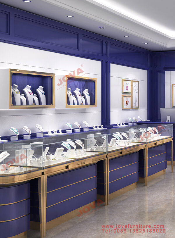 luxury jewelry showcase