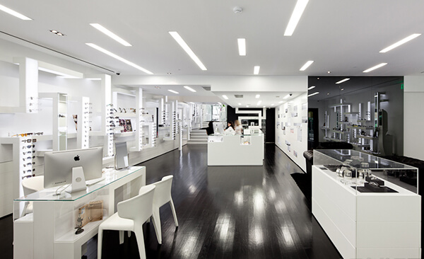 large optical shop design