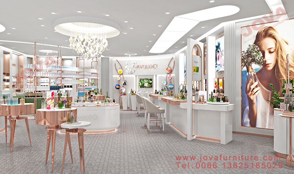 perfume showroom display design