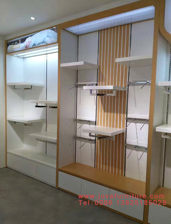clothing store slatwall display fixtures