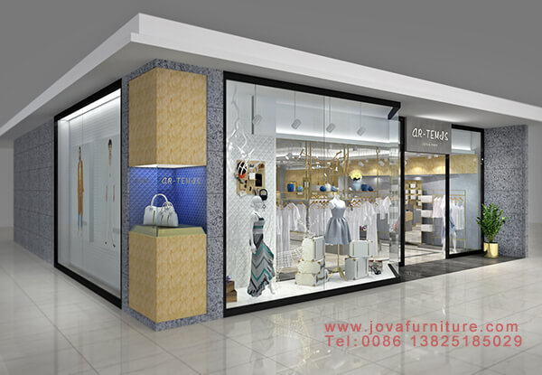 3D clothing store layout