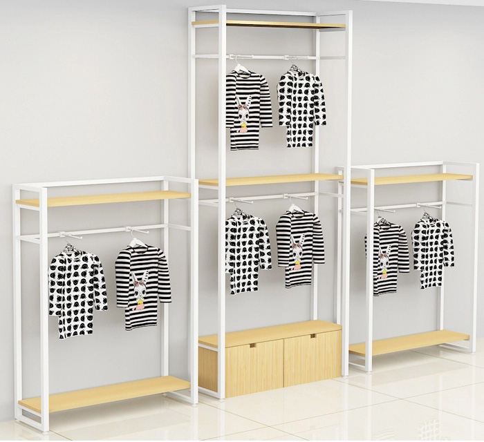 metal garment display shelf