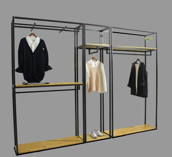 metal wall shelf for garments shop