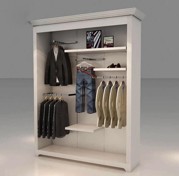 retail wall units for clothing store