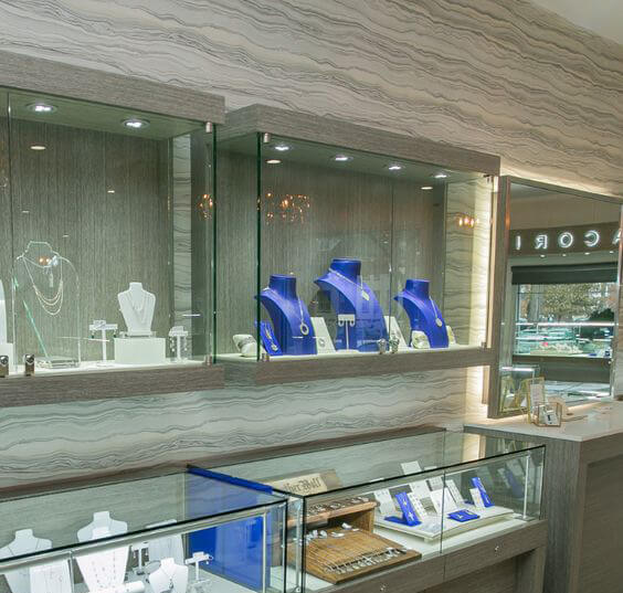 jewelry shop wall design