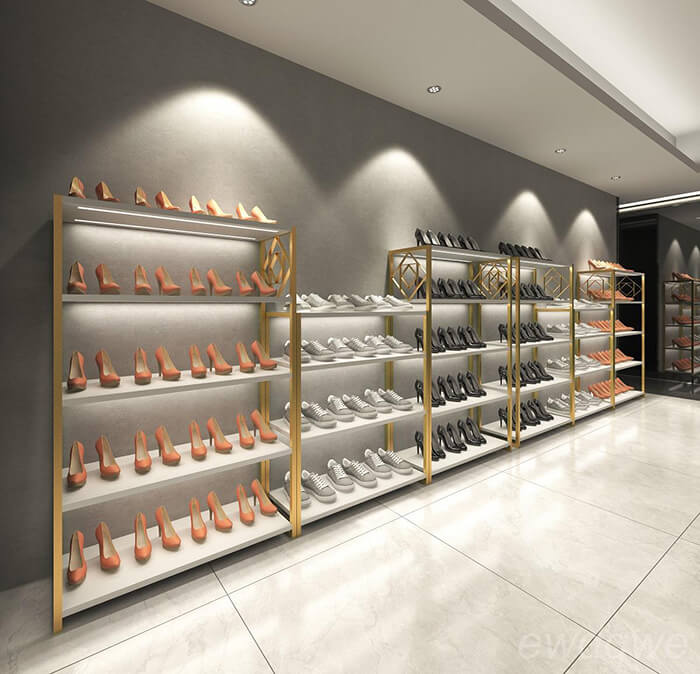 boutique shoe display