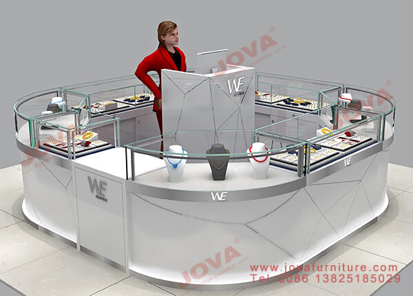 register stand for jewelry kiosk