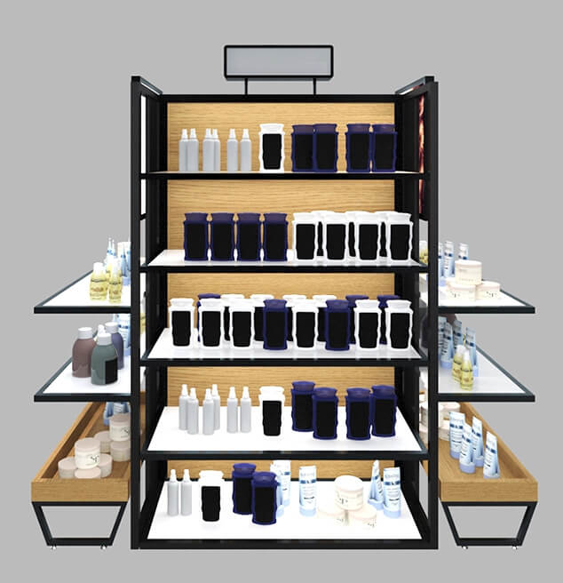 professional makeup display for store