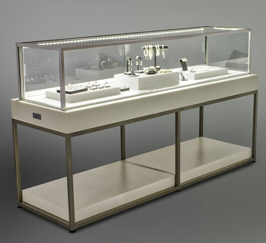 stainless steel jewelry counter