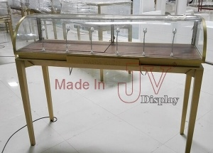 Custom made portable glass top jewelry showcases
