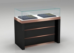 jewelry showcases wooden and glass classic