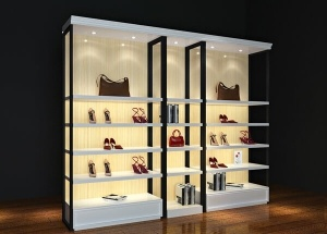 Shoe display shelves wall for shops