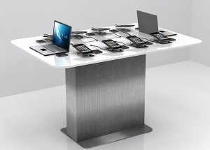 cell phone display table