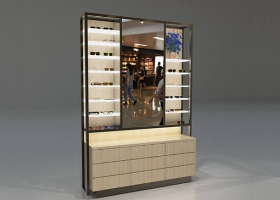 Optical Display Cabinets Wall Wooden Glass For Sale