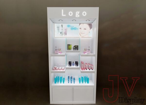cosmetic display shelves