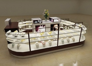 Jewelry kiosk display custom design multilevel