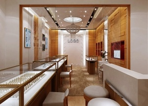 Jewelry store design ideas with display showcase