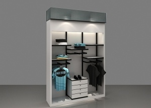 Furniture for clothing store display white retail