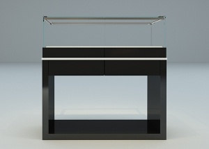 Jewelry display cabinet design black rectangle new