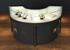 Jewellery shop display cabinets custom black round